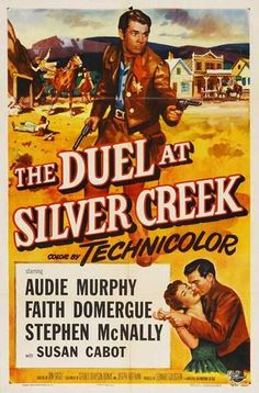 Duel At Silver Creek (1952) Celebrated war hero Audie Murphy packs a two-fisted punch in this action-filled western adventure, which also features legendary Oscar winner Lee Marvin in one of his first