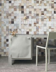 Scrap Wood Wallpaper Texture wood-textured wallpaper series by Dutch designer Piet Hein Eek. Unique Wallpaper, Wood Wallpaper, Wallpaper Awesome, Chic Wallpaper, Luxury Wallpaper, Wallpaper Direct, Textured Wallpaper, Shabby Chic Tapete, Interiores Shabby Chic