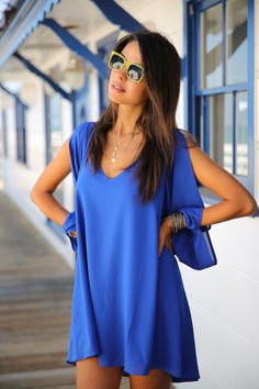 Blue Dress With Dark Color Shades For Ladies | Fashion Ideas Click The Picture To See More
