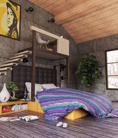Contemporary bedroom   3D Render Arquitectura - Architecture and Home Decor - Bedroom - Bathroom - Kitchen And Living Room Interior Design Decorating Ideas - #architecture #design #interiordesign #homedesign #architect #architectural #homedecor #realestate #contemporaryart #inspiration #creative #decor #decoration