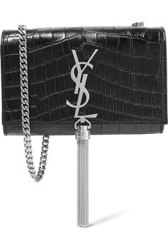 549d0ce1843a Saint Laurent - Monogramme Kate small croc-effect leather shoulder bag