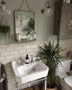 Bathroom Decor plants Have you used our tiles in your home Share your creation with us today to get featured with hundreds of stunning customer photos. Bad Inspiration, Decoration Inspiration, Bathroom Inspiration, Decor Ideas, Wc Retro, Casa Retro, Minimalist Bathroom, Modern Bathroom, Small Bathroom