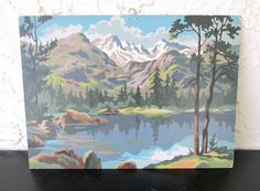 Old Snowtop Craft Master Ocean Mid Century Vintage Paint by Number PBN Unframed Painting AtomicPutz.com