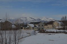 Our back yard in Heber winter 2012
