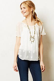 Lace Melange Tee - anthropologie.com