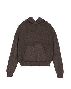 MOG - Knit hoodie - Black melange Black Hoodie, Knitwear, Men Sweater, Pullover, Hoodies, Shorts, Knitting, Model, Sweaters