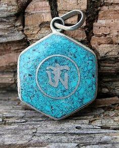 Nepalese OM Ohm pendant - look4treasures on Etsy, $16.95