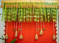 DecorbyKrishna, authentic and eco-friendly traditional home based events wedding and floral decorations Marriage Decoration, Home Wedding Decorations, Flower Decorations, Traditional Decor, Traditional House, Coconut Decoration, Leaf Decoration, Half Saree Function, Ethnic Home Decor