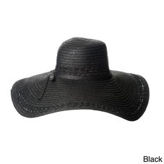 8cd5e99cef9 Magid Magid Hats Womens Wide Brim Bow detail Floppy Hat Black Size One Size  Fits Most