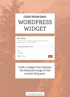 There are three parts to creating your own WordPress widget: Creating the form in the admin area, where you enter the widget title and any other settings. Coding the part that saves that form data. Displaying the actual widget on the front-end of your site. I'm going to show you the layout and format of …