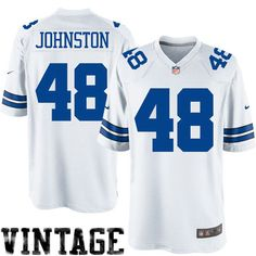 Nike Daryl Johnston Dallas Cowboys Legends Replica Jersey - White - $99.99