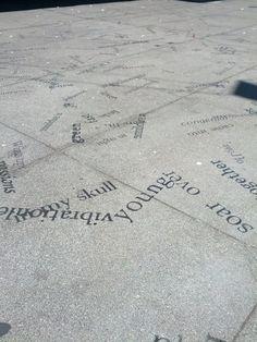 text in ground plane