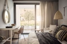 Casa Cook is a bohemian style hotel resort on the Greek island of Rhodes, combining the traditional decor and modern sleek design. Casa Cook Hotel, Rhodes Hotel, Bohemian Hotel, Bohemian Style, Boho Chic, Hotel Safe, Mediterranean Design, House And Home Magazine, Coastal Style