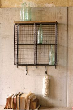 square wire cubby with hooks  $149.00