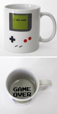 Game Over // Game Boy geek mug with secret message - want!