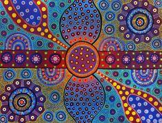 Aboriginal Designs and Patterns | ... at Aboriginal Art Directory - Marie Hayes Australian Aboriginal Artist