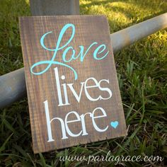 "Love Lives Here (5.5"" x 7.5"") by ParLaGrace on Etsy"