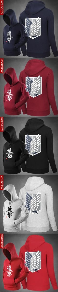 Hot Hoody  Attack on Titan the Wings of Freedom Hoodies Pullover  Sweatshirts Loose Outerwear Cute Unisex Spring Coat