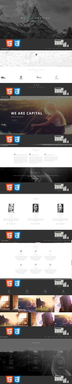 Capital One/MultiPage HTML Template. HTML/CSS Themes. $18.00