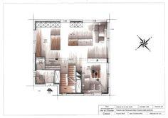 Marker render floor plan for Mr & Mrs Smith - http://alexgoldsworthy.weebly.com/mr--mrs-smith.html