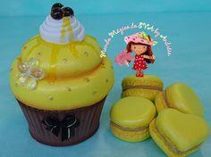 Mundo Mágico do EVA by Andréia: Cupcake no tema mel