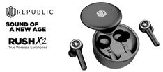 Nu Republic Rush X2 true wireless earphones come with an acoustic design. These earbuds look pleasant and feel comfortable to wear. Tab to read full review. Gadget News, Gadget Review, Acoustic Design, Sweat Proof, Digital Audio, Wireless Earbuds, Noise Cancelling, Wireless Headphones