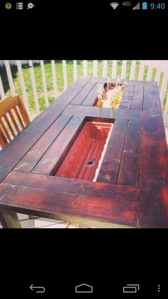Great idea for a picnic table! One way to get rid of the cooler!