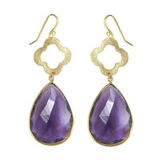51685e062 Amethyst Gold Dream Dangle Earrings - Teardrop Earrings - Gemstone Ear – Urban  Carats Gemstone Earrings