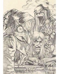 Ghoulunatics by Bernie Wrightson Comic Book Pages, Comic Book Artists, Comic Books Art, Comic Art, Ec Comics, Horror Comics, Horror Art, Monsters Ink, Horror Monsters