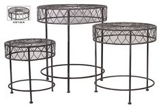 Urban Trends Collection Metal Table Set of Three