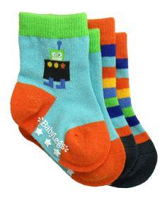 Orange & Blue Galactic Socks Set | zulily