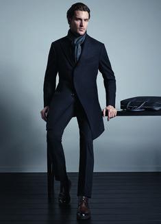 Janis Ancens + Shaun De Wet Are the Epitome of Elegance for Ermenegildo Zegna Fall/Winter 2014  image zegna02