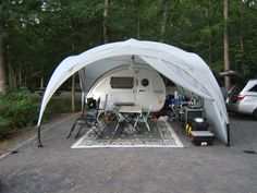 The Teardrop Dome from PahaQue is available exclusively from Teardropshop.com.  This item was designed with the Teardrop camper in mind.  Adjustable-height legs