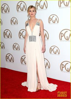 jennifer lawrence stuns on her first red carpet in months 08 Jennifer Lawrence looks absolutely beautiful in her white gown while stepping out on the red carpet at the 2015 Producers Guild of America Awards held at the Hyatt…
