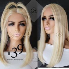 Blonde Bob Wig, Blonde Bobs, Middle Parts, Lace Front Wigs, Sexy, Hair, Beautiful, Color, Colour