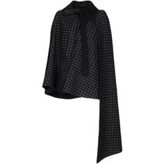 Akris Capes & Ponchos (37,360 EGP) ❤ liked on Polyvore featuring outerwear, black, cape poncho, cape coats, poncho cape, poncho cape coat and akris