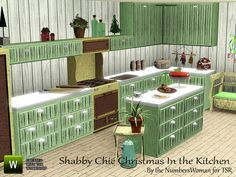 Shabby Chic Christmas Kitchen by riccinumbers - Sims 3 Downloads CC Caboodle