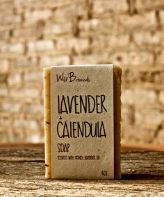 Lavender and Calendula Soap, Organic Soap, Palm Free Soap, All Natural, Scented, Vegan, Handmade, Cold Process Soap, Wildflower Seed Paper by WildBotanicals on Etsy