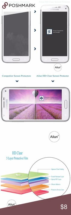 Galaxy S5 Screen Protector,[5-Pack Galaxy S5 Screen Protector,[5-Pack]by Ailun,for Samsung Galaxy i9600,Anti Bacterial Bubble Free Reduce Fingerprint&Oil Stains,PET Film Made in Japan,Case Friendly-Siania Retail Package  box 2 Accessories Phone Cases