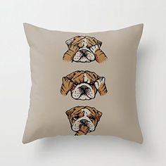 Superficial, Cotton Linen Home Decorative Sofa Square Pillowcase Fashion Pillow Cover Case 1818, Cute Bulldog - Brought to you by Avarsha.com