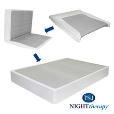 Night Therapy 9 inch High Profile BiFold Box Spring, Split King  http://www.mytimehome.com/night-therapy-9-inch-high-profile-bifold-box-spring-split-king/