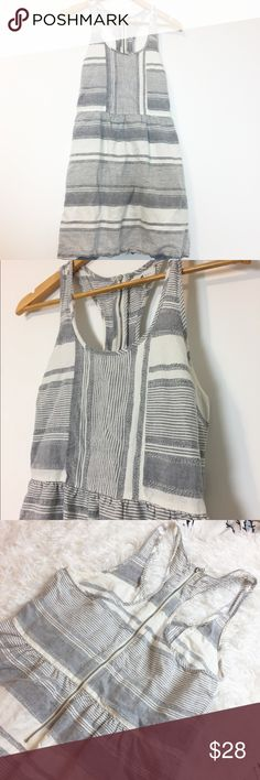 Lou and grey striped dress grey This dress is in excellent condition. Lou & Grey Dresses