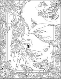Creative Haven Unicorns Coloring Book Dover Publications
