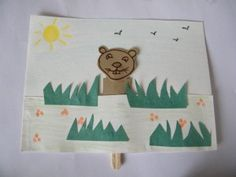 Peeping Groundhog Craft Activity for Groundhog day