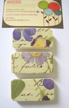 Magnet Gift Set of 3 in pretty Lilac BloomLocker decor by MiaBooo, $5.00