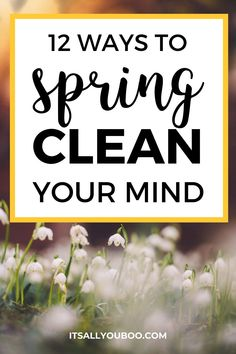 Not feeling your best after a long winter? Is your mind cluttered and overwhelmed? Click here for 12 easy ways to spring clean your mind so you can refocus on success. Shake off the winter blues and get back to feeling like yourself again. Plus, get your FREE Printable Spring Clean Your Mind Checklist with daily activities for your mental health. Spring cleaning isn't just for your home, closet and life, it's for your mind too. Development Quotes, Self Development, Personal Development, Mindfulness Activities, Daily Activities, Health And Wellbeing, Mental Health, Personal Growth Quotes, Diy Cleaners