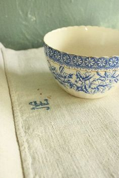 transferware with a pretty scalloped rim