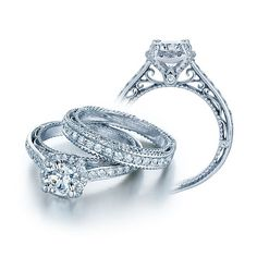 THIS IS IT.  Verragio Venetian AFN-5015R Halo Pave Engagement Ring