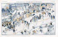 Pierre Lissac (1878-1955). Paris-sur-Mer: L'heure de la trempette. La Vie Parisienne, 1921. [Pinned 22-i-2015]