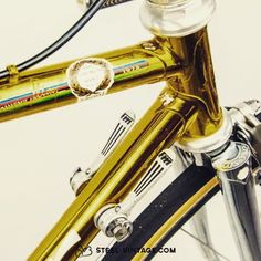 Francesco Moser Oro gold plated classic bicycle - soon at www.steel-vintage.com #steelvintagebikes